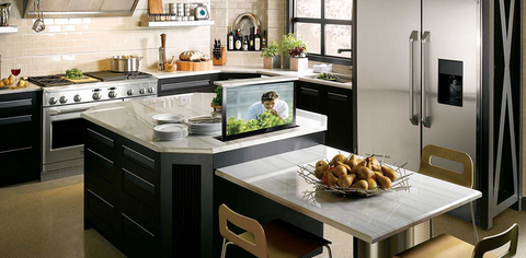 Home Kitchen tv lift cabinet use