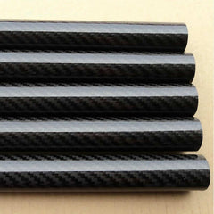 3K Glossy Roll-wrapped Carbon Fiber Tube- Twill Weaving / OD: 4~10mm