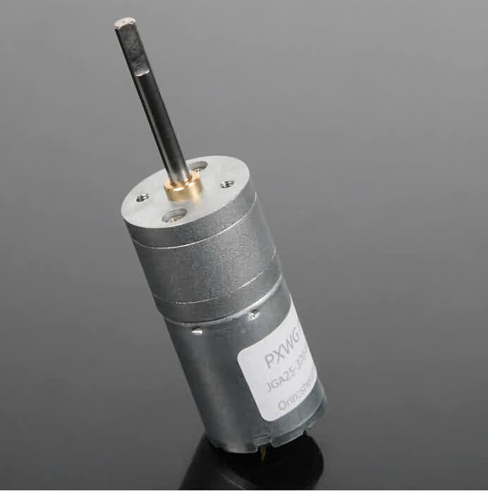 Firgelli Robots GM25 Gear DC Motor - 30.8+L * 25 * 25mm / 4mm Output Shaft