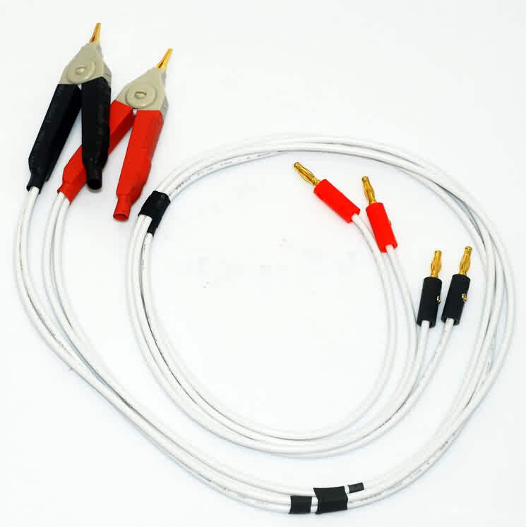 Firgelli Robots Kelvin Clips with 4mm Banana Plug Test Lead Set