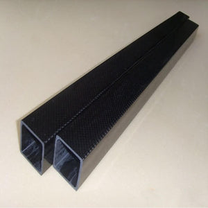 Firgelli Robots 3K Carbon Fibre Square Tube with Square Holes-Plain Weaving