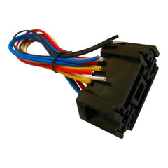 12 Volt Double Socket and Wiring Harness for Single-Pole Double-Throw Relays (SPDT)