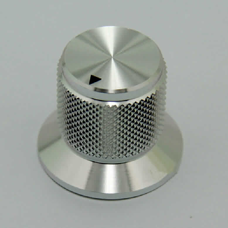 Firgelli Robots Knurled Aluminum Rotary Control Knob with Flange - OD: 30mm / H: 25mm