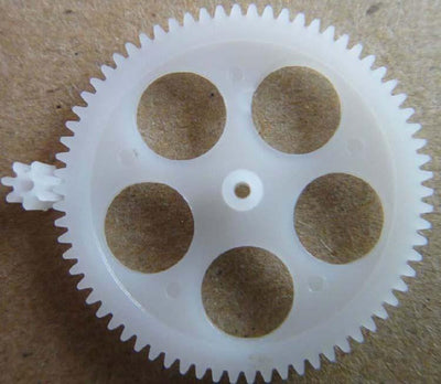 5 Hole Plastic Single Stage Spur Gear M: 0.3 Teeth: 70