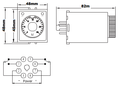 12 Volt Double-Pole Double-Throw Timer Relay