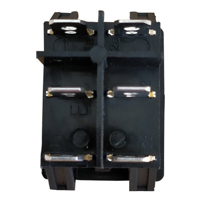back view of a rocker switch DPDT - Tab view