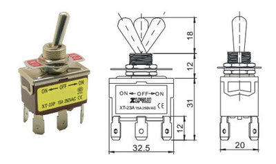 Toggle Switch for Actuators