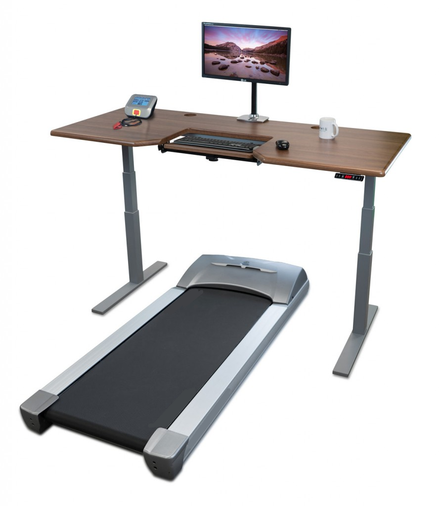 Treadmill Desk Work Whilst Walking With Sit Stand Desk Lift