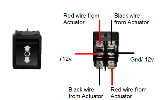 Way Rocker Switch Wiring To Motors And Linear Actuators ... on