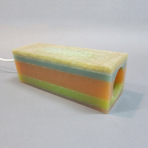 Layered Rubber Lamp in Orange, Blue and Green
