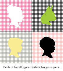 Custom Gingham Silhouette Pillow - Simply Silhouettes