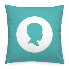 Custom Circle Frame Silhouette Pillow - Simply Silhouettes