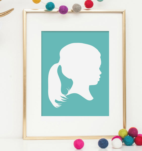 Colorful Custom Silhouette Print - Simply Silhouettes