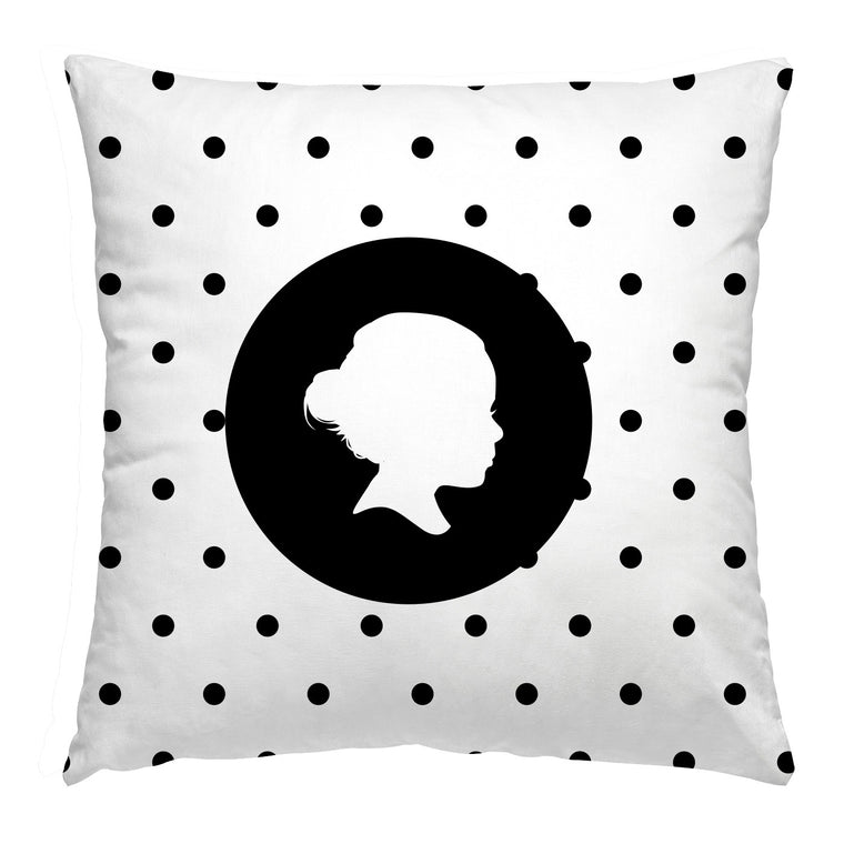 Custom Polkadot Silhouette Pillow