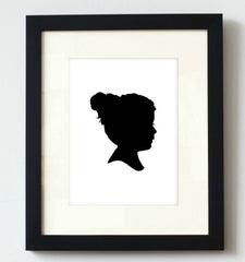 Classic Custom Silhouette Print - Simply Silhouettes
