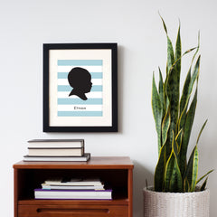 Striped Silhouette Print
