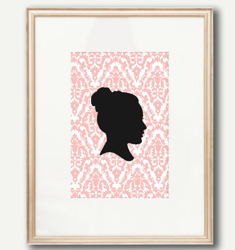 Brocade Silhouette Print