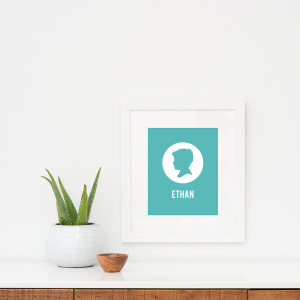 Modern White Frame - Simply Silhouettes