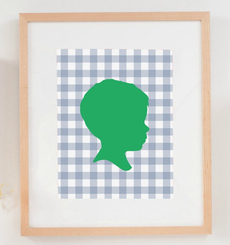 Gingham Silhouette Print