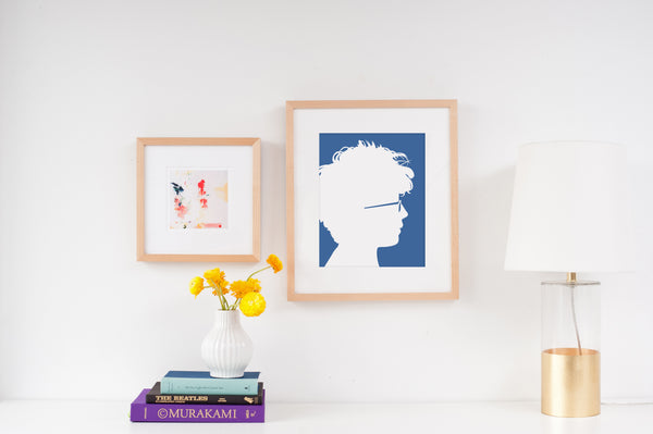 Natural Wood Frame - Simply Silhouettes