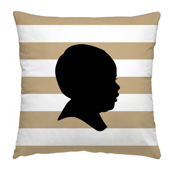 Custom Striped Silhouette Pillow - Simply Silhouettes
