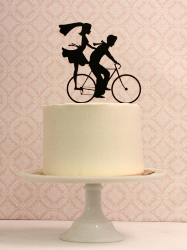 Copy of Custom Silhouette Wedding Cake Topper with YOUR Silhouettes