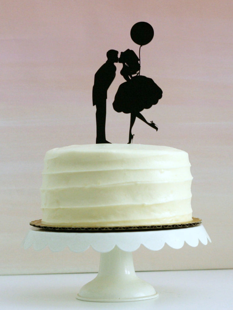 Copy of Copy of Copy of Copy of Custom Silhouette Wedding Cake Topper with YOUR Silhouettes