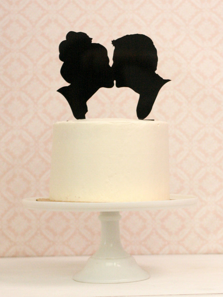 Copy of Copy of Copy of Custom Silhouette Wedding Cake Topper with YOUR Silhouettes