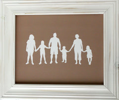 Family Silhouette Portrait - Simply Silhouettes