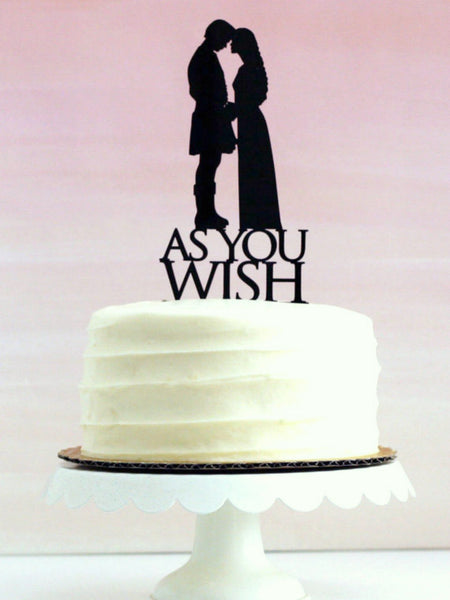 Copy of Copy of Custom Silhouette Wedding Cake Topper with YOUR Silhouettes
