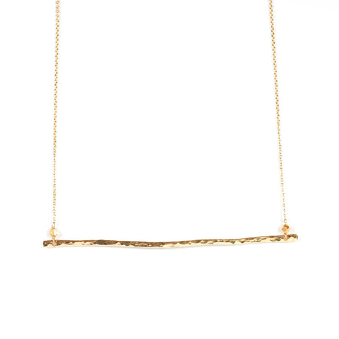 Horizon Bar Necklace- Long
