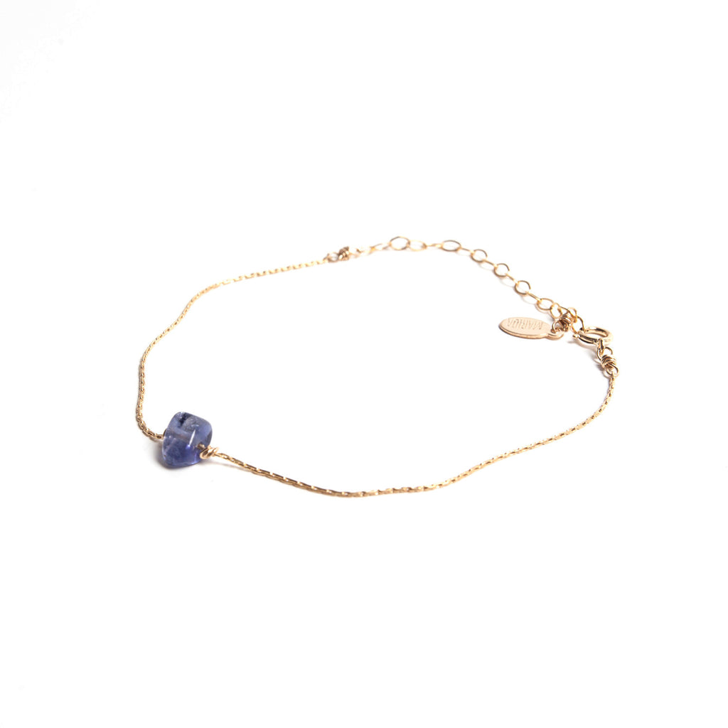 Purple Iolite- Itty Bitty Bracelet
