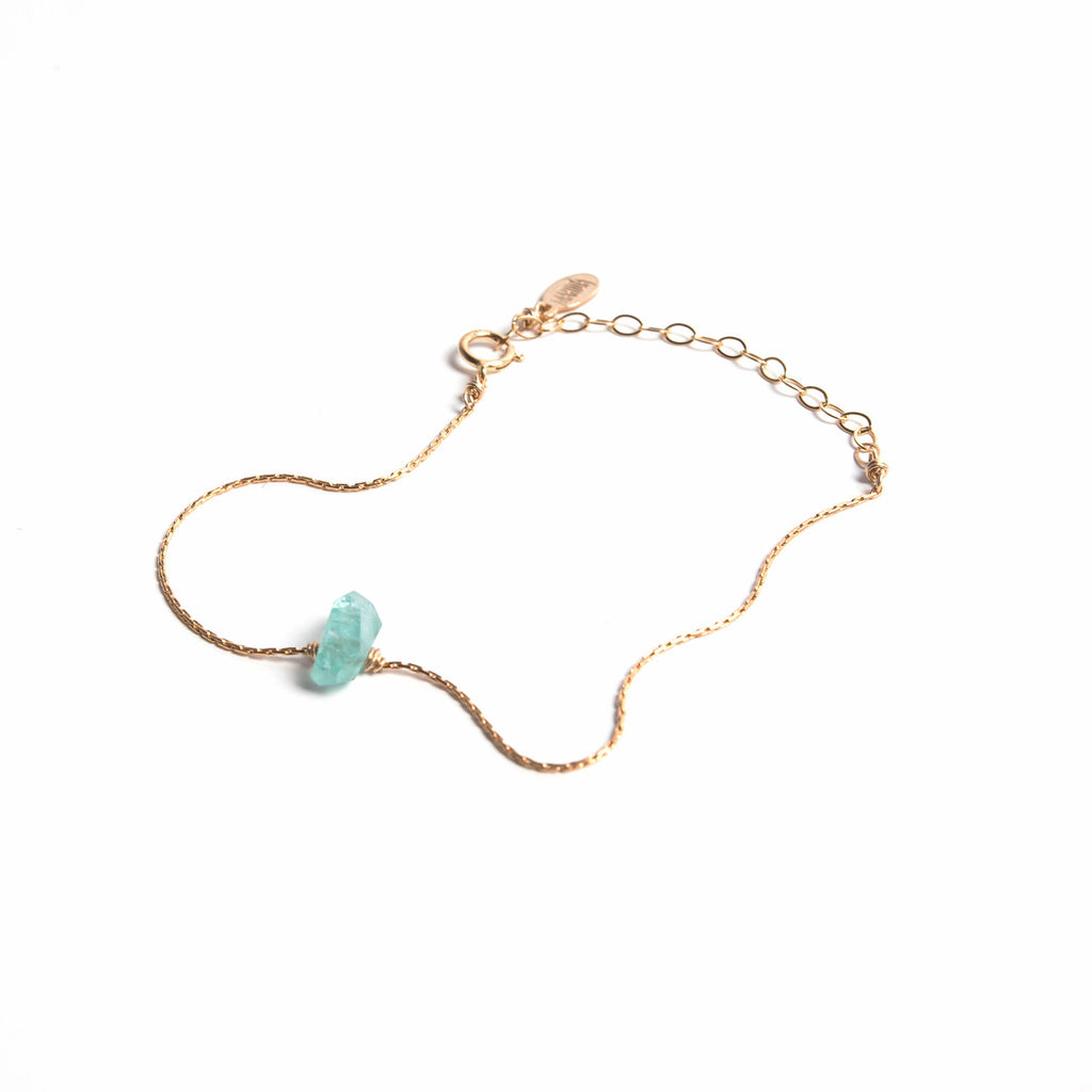 Sea Green Apatite- Itty Bitty Bracelet