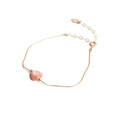 Pink Mother of Pearl- Itty Bitty Bracelet