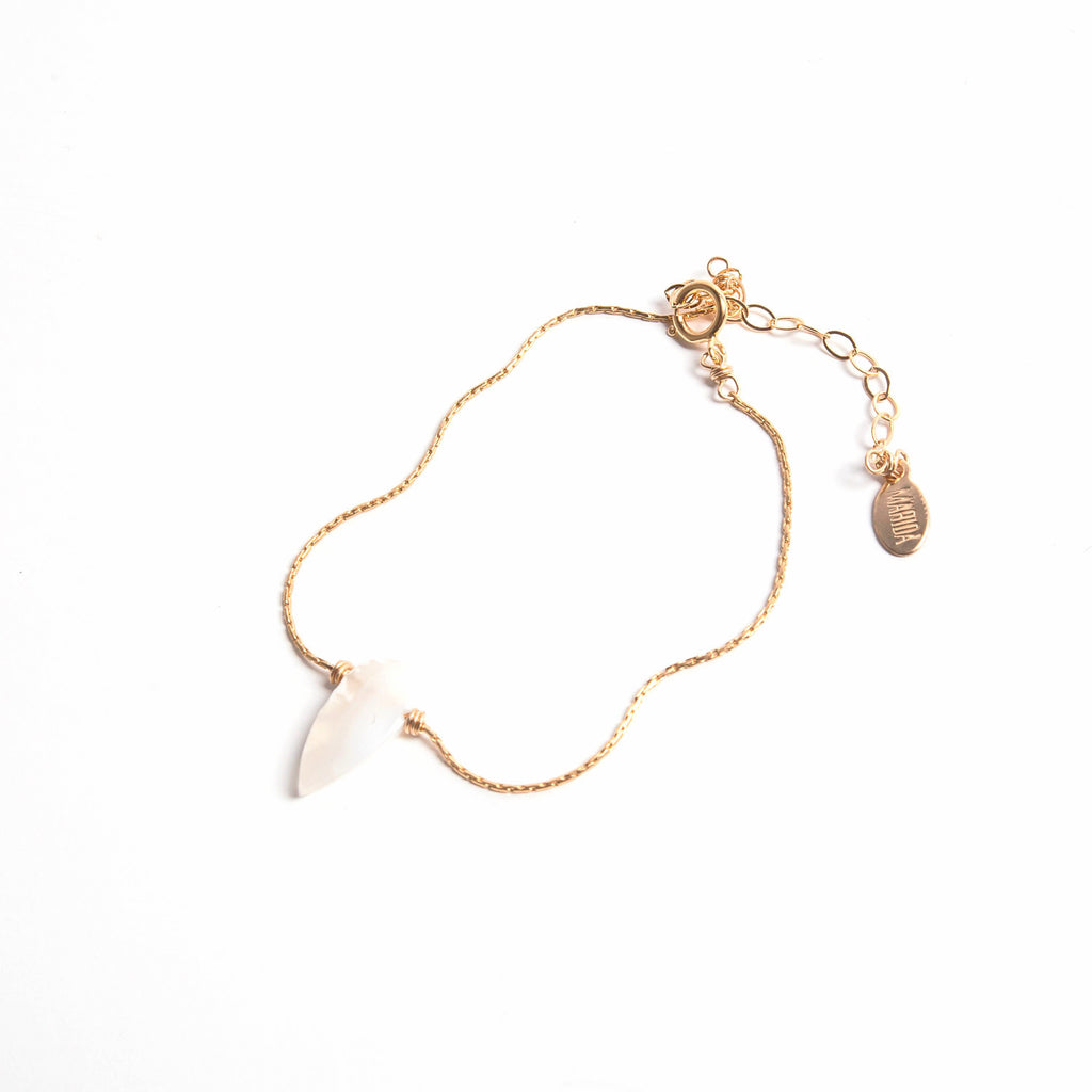 Raw White Opal- Itty Bitty Bracelet