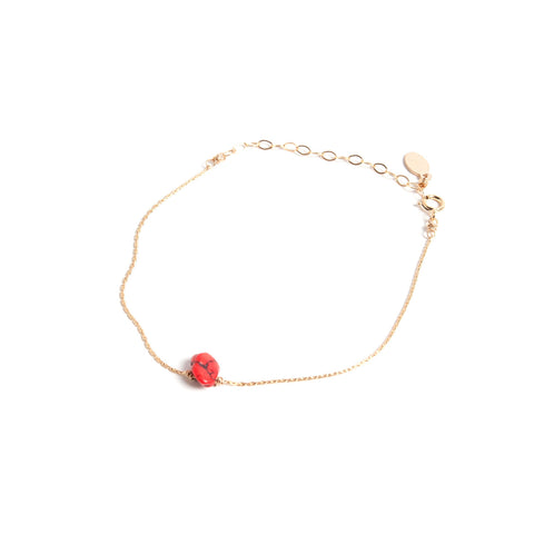 Red Turquoise- Itty Bitty Bracelet