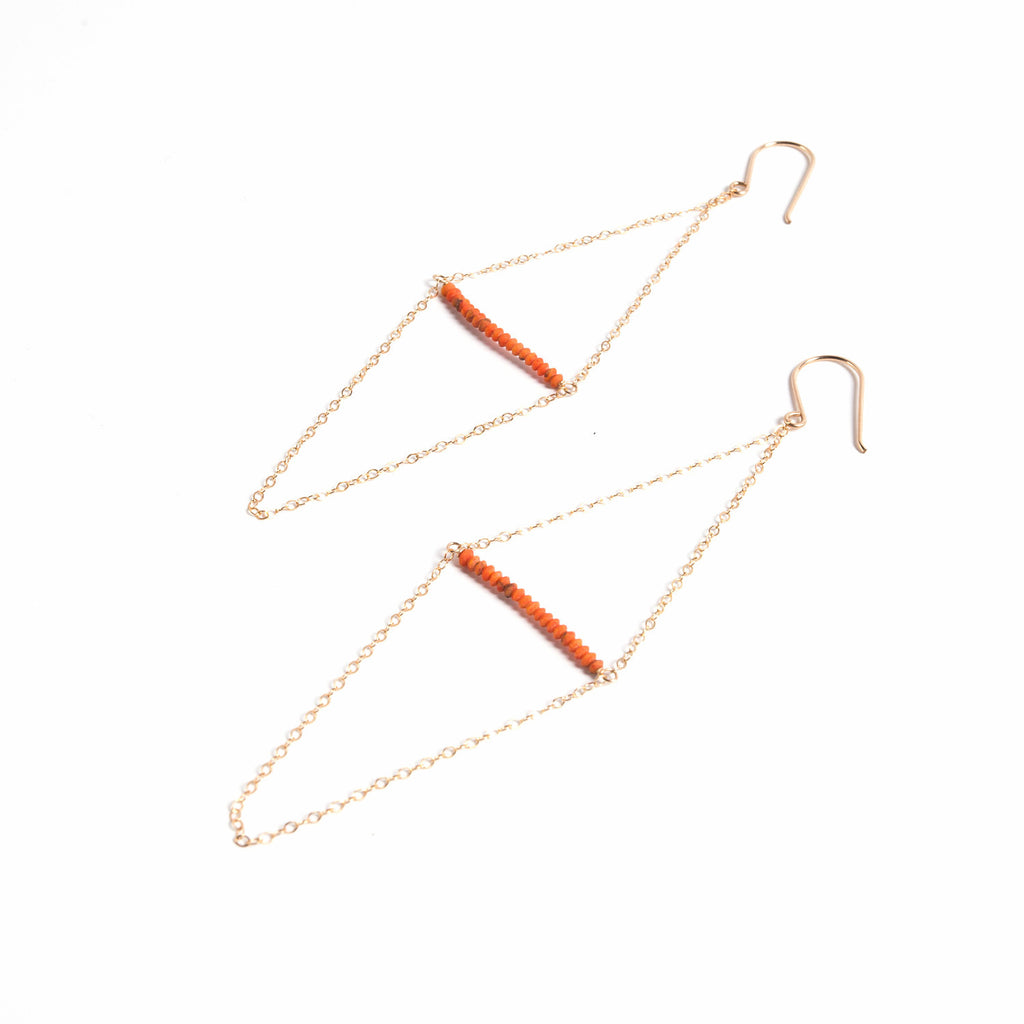 Kite Earring- Coral