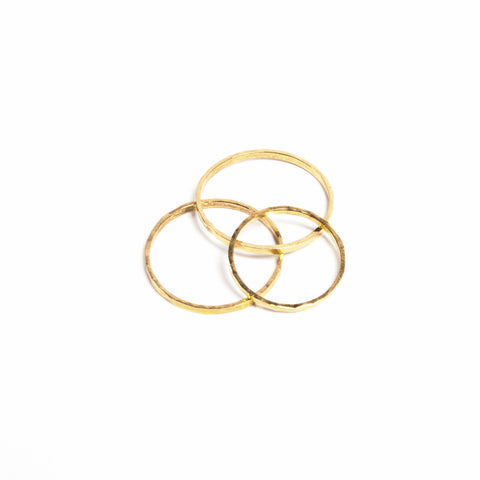 Gold Gleam Stack Ring