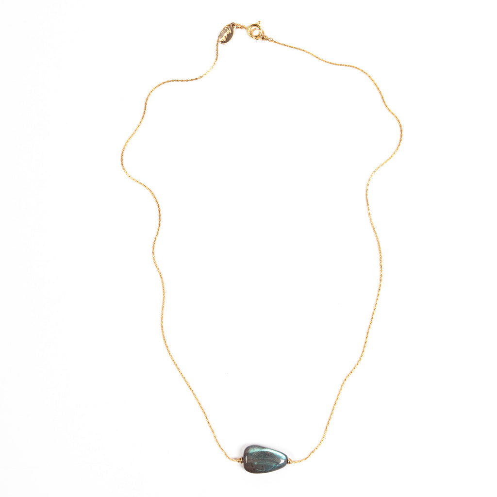 Itty Bitty Necklace- Labradorite