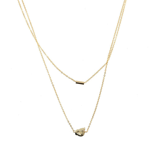 Meteor Necklace- Gold Pyrite