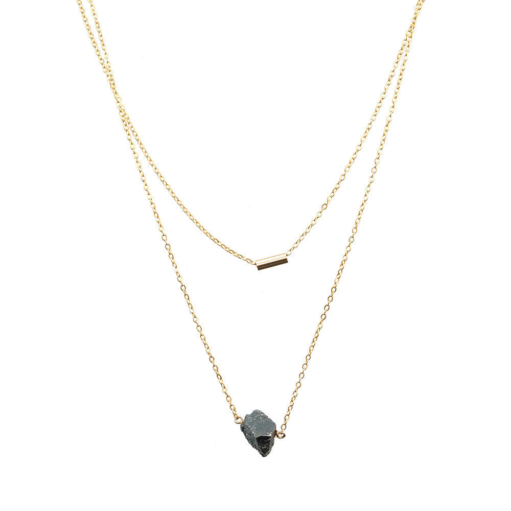 Meteor Necklace- Silver Pyrite