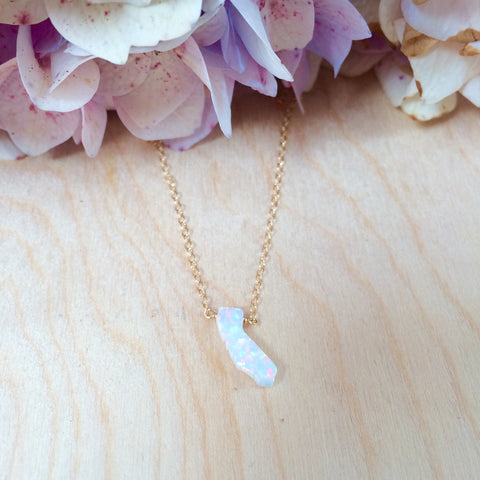California White Opal Necklace