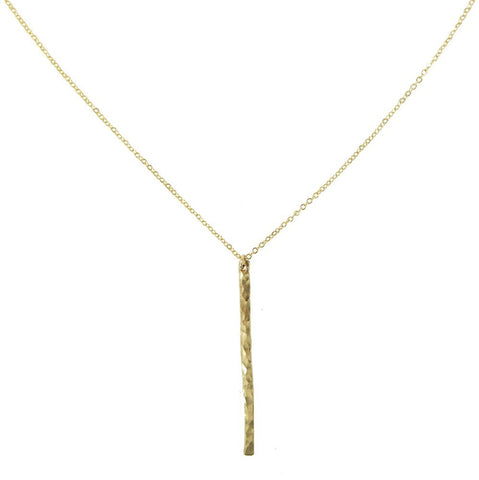 Bar Pendant Necklace- Medium