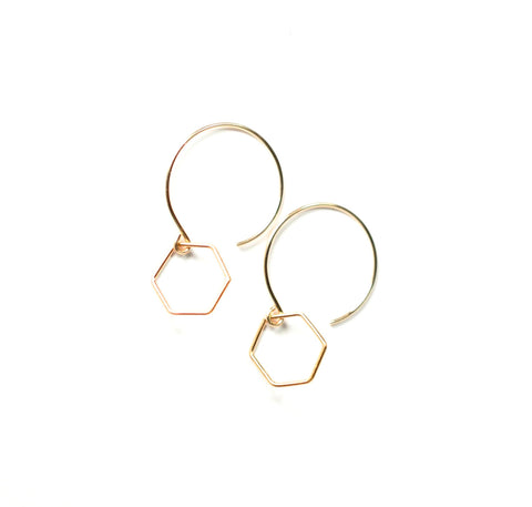 Hexagon Drop Earring