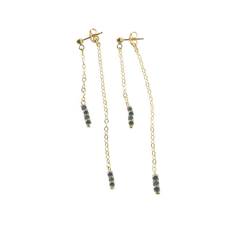 Connection Earrings- Grey Hematite