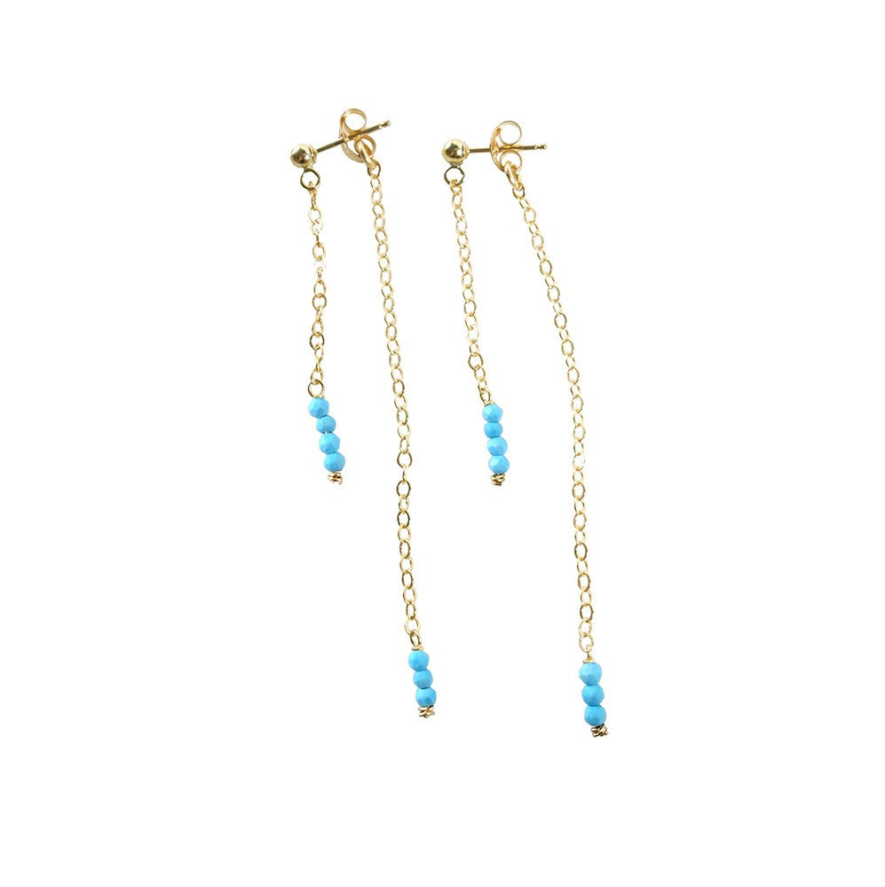Connection Earrings- Turquoise Howlite