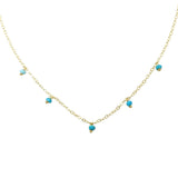 Dot Necklace- Turquoise