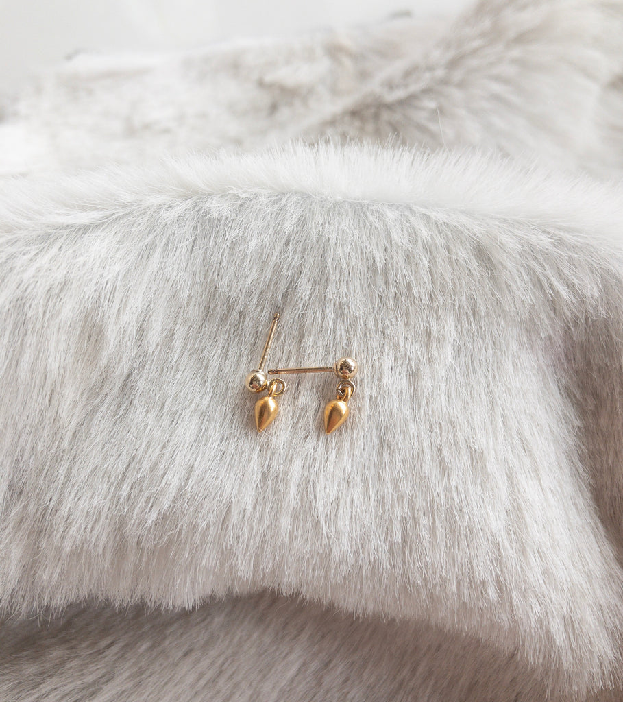 Petite Rosebud Stud Earrings