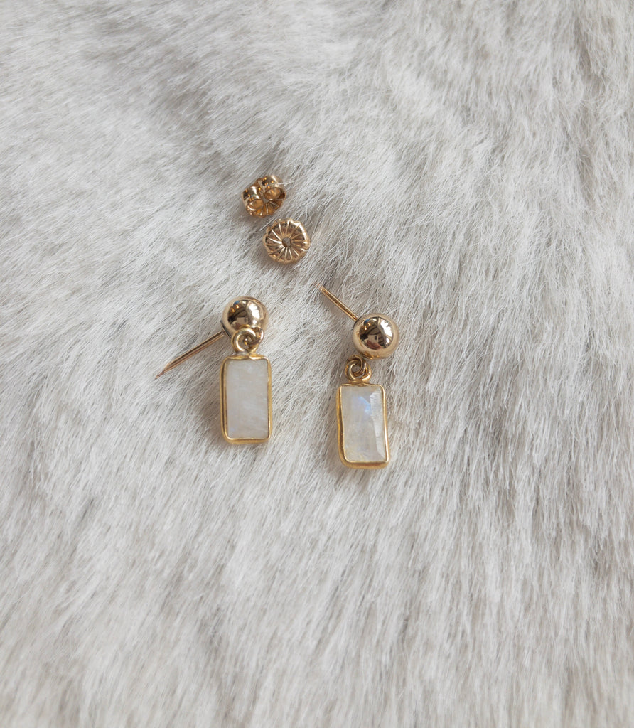 Passage Stud Earrings- Moonstone