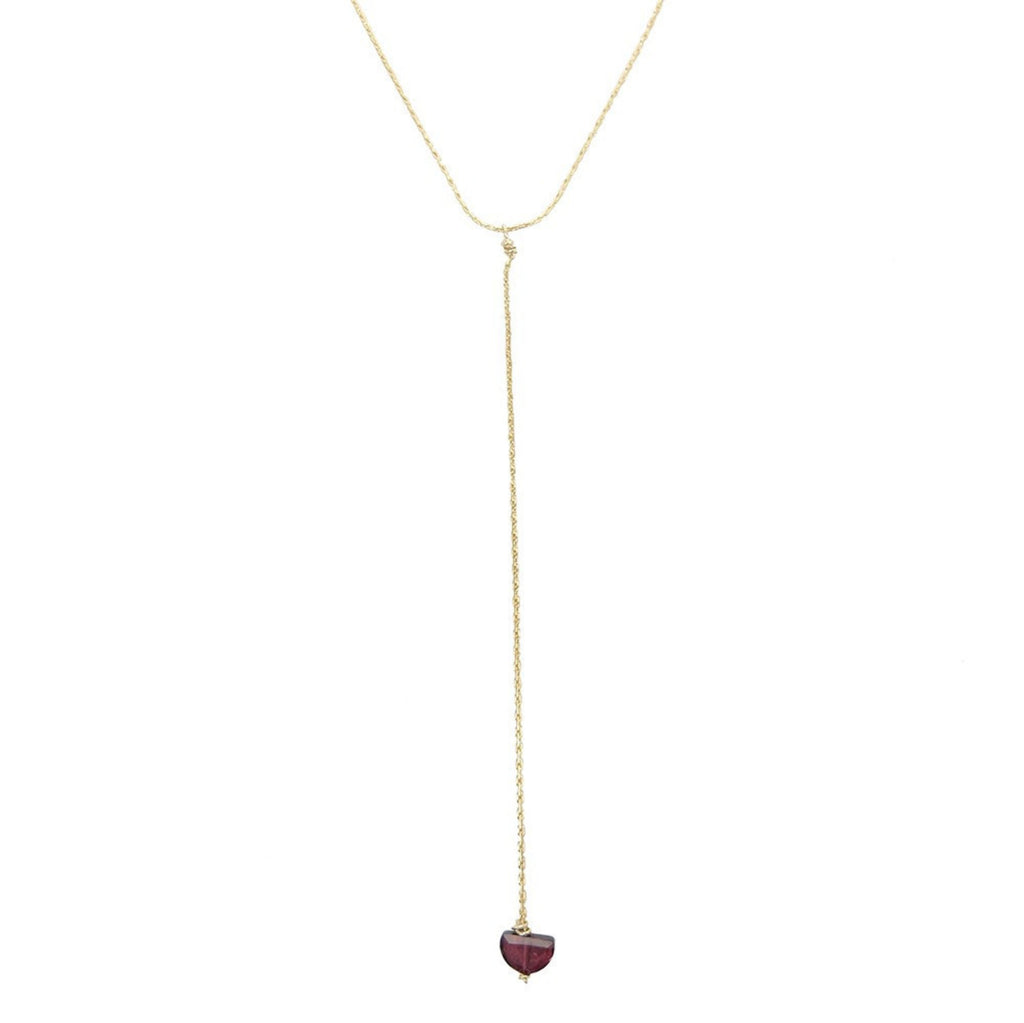Landslide Necklace- Garnet